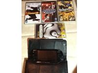 Psp slim&lite with 10 games and charger plus case