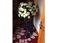 4 x Wedding trees = ivory with navy decor (navy can be changed)