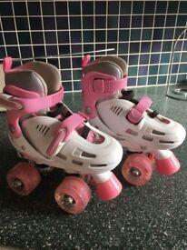 Girls lightning storm light up roller boots