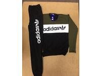 Adidas Tracksuit: Black / Blue / Grey S M L