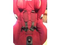 Maxi Cosi Axxis Car Seat in Red. Swivel action to make it easier to move your child in and out.
