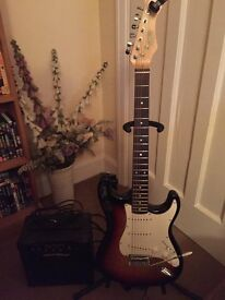 electric guitar / amp / tuner & stand