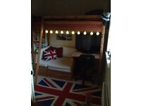 High sleeper loft captain cabin bed with desk and guest bed