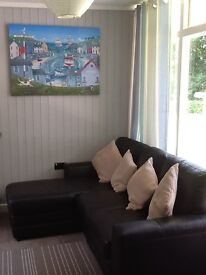 Lovely refurbished chalet holiday home for sale Woodlands New Quay