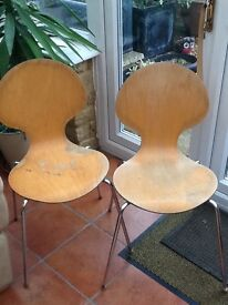 2 Stacking chairs £10 each buyer collects