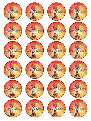 18th Birthday Decorations Ideas (X24 18TH BIRTHDAY PARTY CUP CAKE TOPPERS DECORATION IDEAS ON EDIBLE RICE PAPER)