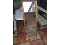 tall gold frame mirror goodcondition only £7.00