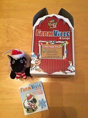 Farmville Plush Sheep Christmas Ornament Zynga And Box With Cash Code Unused