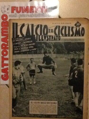 Il Calcio Illustrato N.23 Anno 1954 Al Salto Degli Ostacoli