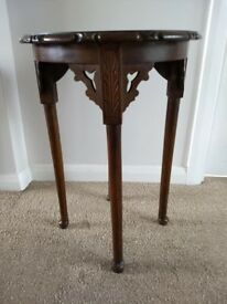 Antique Little Carved Occasional Table