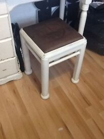 Shabby chic desk mirror and side table
