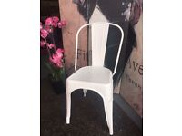 New White Metal Chair Kitchen Chair Bedroom Dining Room