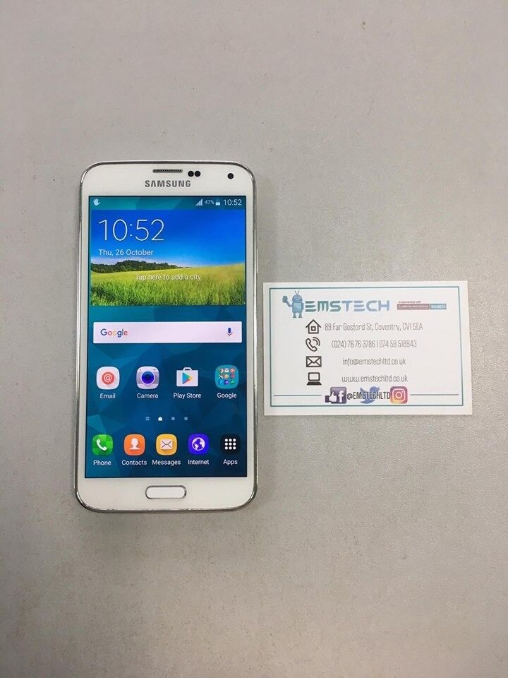 Samsung S5 16GB Unlocked Receipt Provided - White