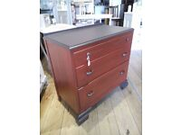 Lovely red Chest of Drawers.