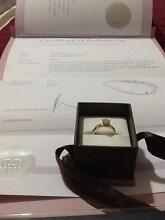 18ct white gold &yellow gold engagement ring 1ct diamond Strathfield Strathfield Area Preview