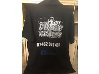 Persanalised printing and embroidery t shirts mugs workwear flyers