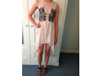 Lipsy London Prom/Party/Evening Dress Size 8- Excellent Condition- pale pink, embellished detail