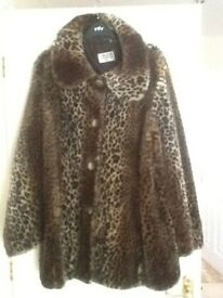 Fur Coat -(100% Icrylic) Size 18