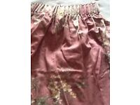 CURTAINS- PENCIL PLEAT, LINED AND LARGE. 133 Ins x 83 ins NOW REDUCED!!!