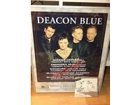 DEACON BLUE SIGNED PROMO POSTER/CD
