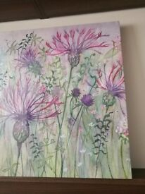 Thistle and Clover Canvas