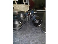 Nikon D3300 dslr with 3 lenses and accessories