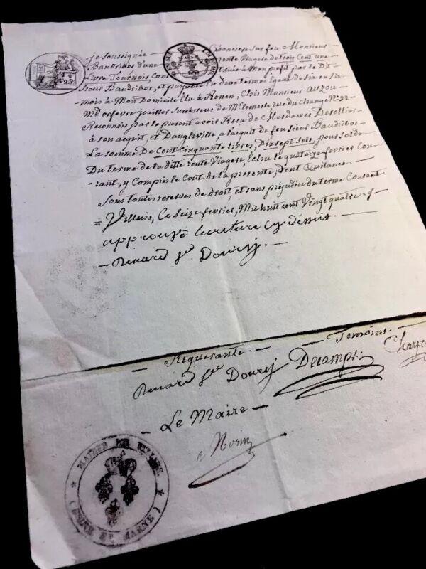 LOT OF TWO MANUSCRIPTS 1816