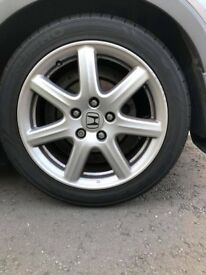 "17"" Honda Civic fk alloys."