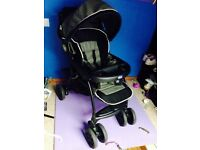 Chicco luxury travel set 3 piece pram , seat and carry case