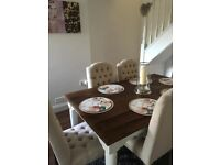 Loaf Dining Table & 6 chairs. Table was £275 & chairs £110 each from Direct Furniture BSE