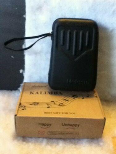 Helesin Kalimba 17 key Thumb Piano Solid Finger Piano with Hard Case