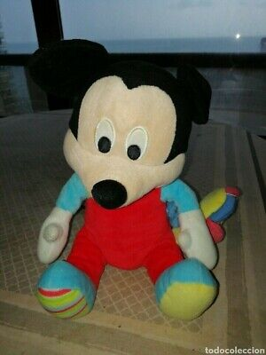 Peluche Bebe Mickie Mouse con león con música 24cm