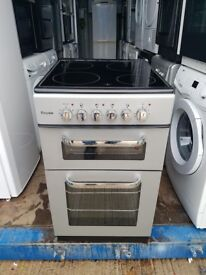Silver 'Royale' Ceramic Top Electric Cooker - Excellent Condition / Free Local Delivery