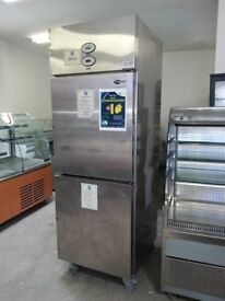 COMMERCIAL 2 DOOR STAINLESS STEEL UPRIGHT FRIDGE AND FREEZER FOR RESTAURANT CAFE SHOP AST001