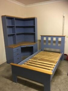 Boys bedroom setting | Bed frame and bookcase Sinnamon Park Brisbane South West Preview