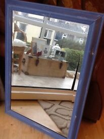 Beautiful distressed bevelled glass mirror