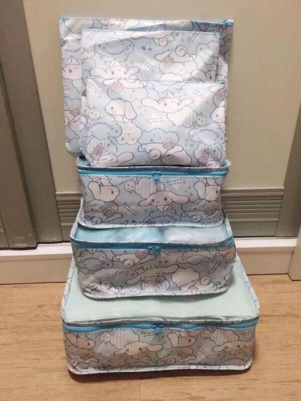 6PC Cinnamoroll Travel Luggage Organizer Cloth Underwear Bra Socks Storage Bags