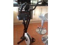 Stylish exercise bike easy to fold away for another day