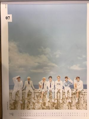 BTS 2018 WALL CALENDAR LIMITED EDITION (Jul) GROUP Ver FOLDED PAPER ONLY SEALED