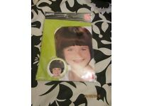 GIRLS BROWN BOB STYLE FANCY DRESS WIG GREAT FOR WORLD BOOK DAY