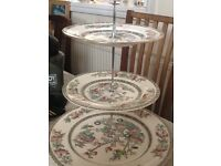 Cake stand in Indian tree pattern