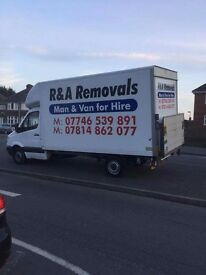 Removals man and van for hire, house removals and clearance at very reasnable prices