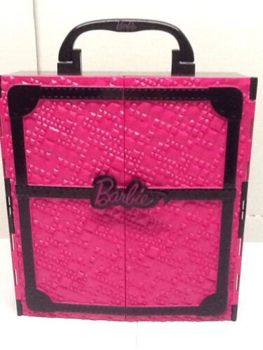 Barbie Pink And Black Glam Closet Carry Case 2011 Pre-owned  - $8.49