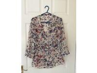 Ladies monsoon silky blouse size 10