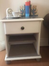 Single Drawer Solid Pine Bedside Cabinet With Open Shelf