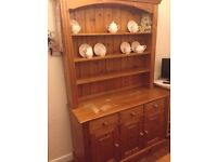 Pine dresser for sale; 3 drawers + cupboards; 3 shelves.