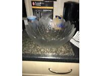 Glass fruit bowl large