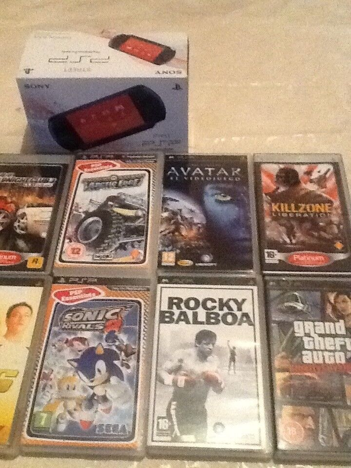 Sony PSP street with games and accessories