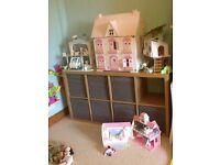 ELC Rosebud Dolls House, Tree House, Hospital and School