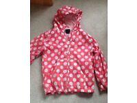 Mini Boden Hooded Rain Coat Jacket Age 7-8